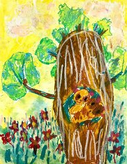 Cheung Yuen Shan,Age 4,Hong Kong,A3 Oil Pastel and Water Colour on paper